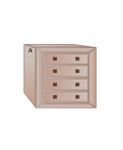 Bronze Mirror Range 4 Drawer Chest Of Drawers