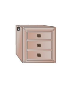 Bronze Mirror Range 3 Drawer Bedside Table