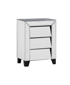 Patricia Range Mirrored 3 Drawer Bedside Table