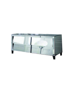 Patricia Range Mirrored Sideboard with 4 Drawers, Bevelled And Angled