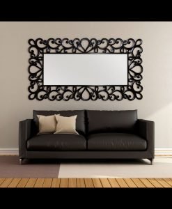Almora Large Hand Carved Mirror in Black or White 220cm x 120cm