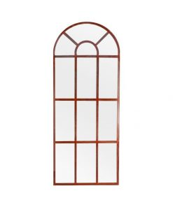French Door Arched Mirror with Rusted Frame - Outdoor Range