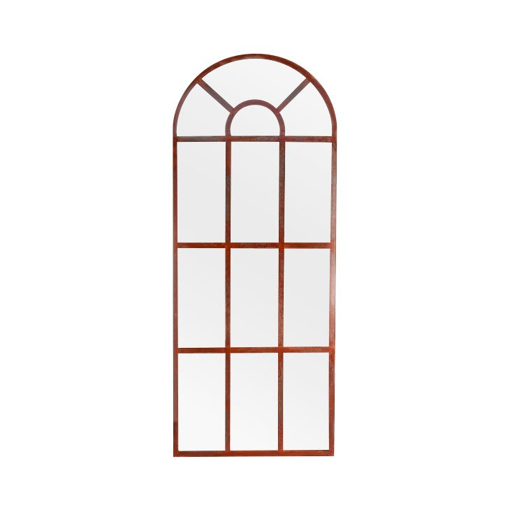 French Door Rusted Frame Outdoor Range Luxe Mirrors
