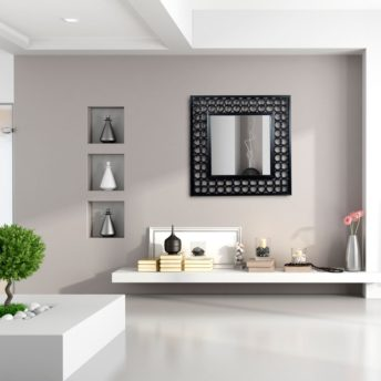Mexico Wall Mirror in Black, White, and Pewter
