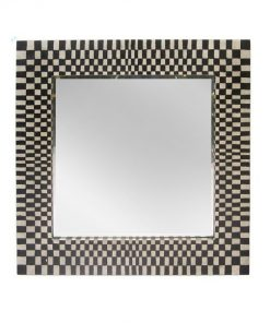 Handcrafted Square Wall Mirror in Black