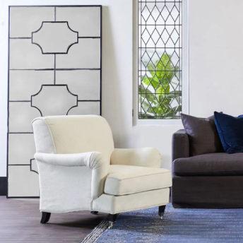 Boyd Black Floor Mirror 99cm x 203cm