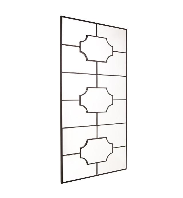 Boyd Black Floor Mirror 99cm x 203cm   Free Delivery   Luxe Mirrors