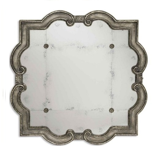 Prisca Extra Large Distressed Silver Mirror By Uttermost 165cm