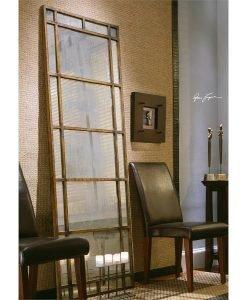 Avidan Antique Floor Mirror with Bronze Frame by Uttermost