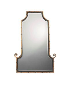 Himalaya Arch Wall Mirror with Iron Frame in Antique Gold Finish by Uttermost 74cm x 107cm