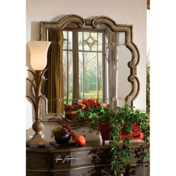 Prisca Distressed Silver Wall Mirror by Uttermost 91cm