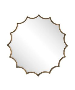 San Mariano Decorative Wall Mirror in Bronze by Uttermost 86cm