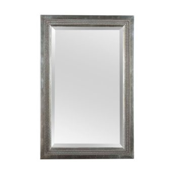 Triple Beaded Vanity Mirror with Silver Frame by Uttermost