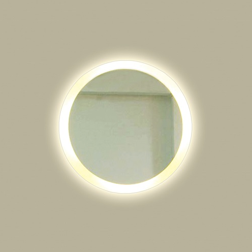 Backlit Round Mirror Backlit With Led Light Luxe Mirrors