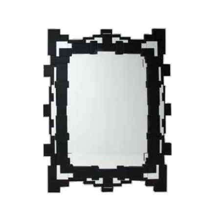 Sonia Black Art Deco Wall Mirror 120cm X 90cm