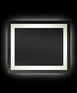 Backlit Rectangular Bathroom Mirror with Border