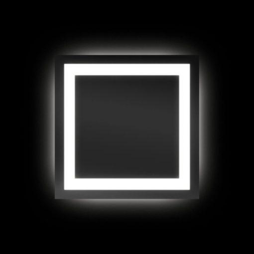 Backlit Square Bathroom Mirror with LED Border 75cm - (Cool Light) or (Warm Light)
