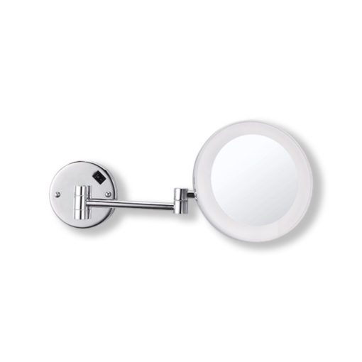 Wall-Mounted-Shaving-Make-Up-Mirror-Round-Mirror-7x-Magnification-20cm
