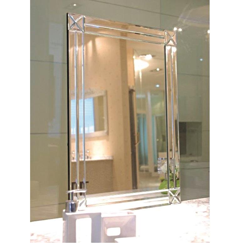 Contemporary Art Deco Modesty Mirror