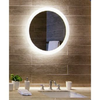 Backlit Round Bathroom Mirror - (85cm Warm Light) or (90cm Cool Light)
