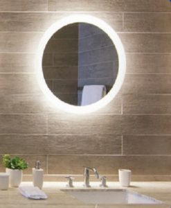 Round Backlit Bathroom Mirror
