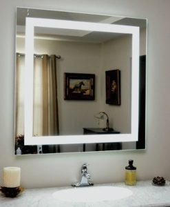 Square Backlit Bathroom Mirror