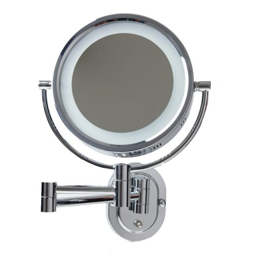 Wall Mounted Shaving Mirror With Led Light Luxe Mirrors
