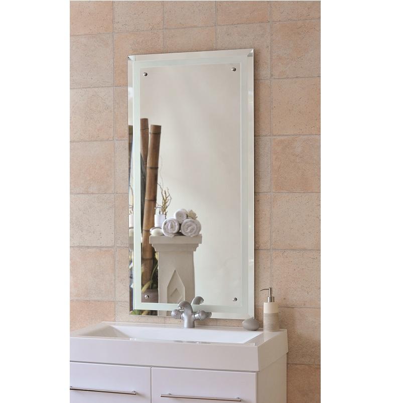 Signature Renee Sandblasted Border Bathroom Mirror