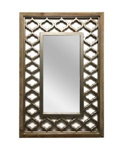 LINKS WALL MIRROR with Carved Wooden Frame