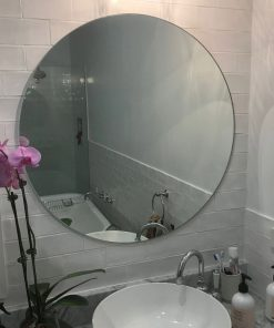 Polished Edge Round Bathroom Mirror