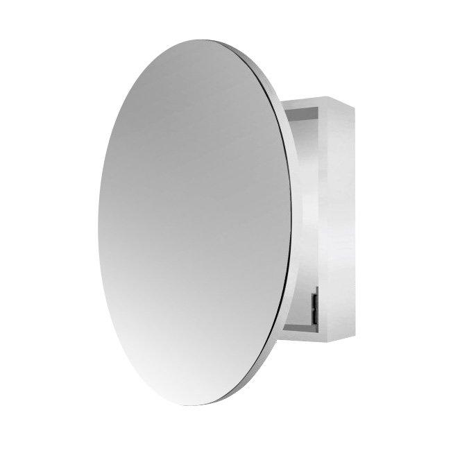 Round Single Door Mirror Cabinet 60cm