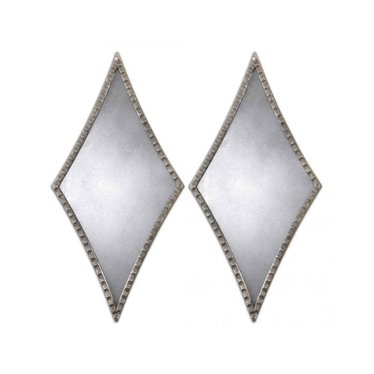 Gelston Diamond Shaped Set Of 2 Wall Mirrors Luxe Mirrors