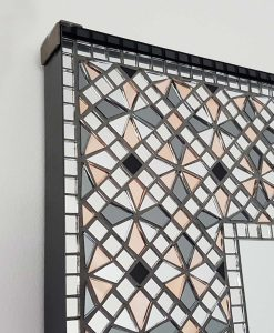 """Pale Rose"" Handmade Mosaic Square Mirror by Mirror Envy"