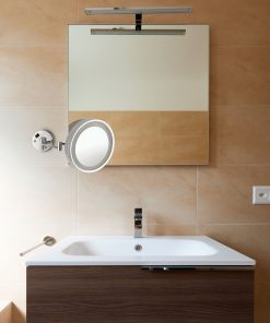 Wall Mounted Round Shaving Make Up Mirror