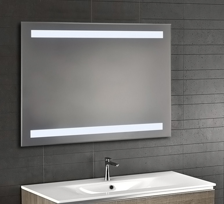 Backlit Bevel Edge Bathroom Mirror With Ir Sensor Luxe Mirrors