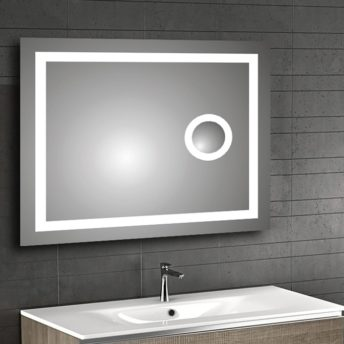 Frontlit LED Mirror with IR Sensor and Magnifier 90cm x 75cm