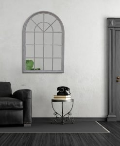 Grey Arched Cathedral Mirror