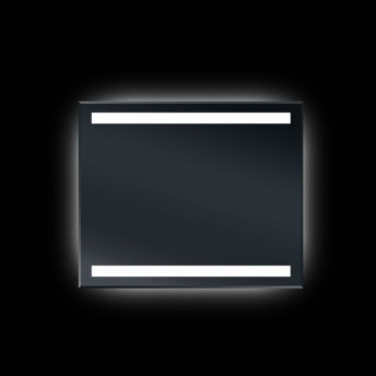 Backlit Bevel Edge Bathroom Mirror with IR Sensor 90cm x 75cm
