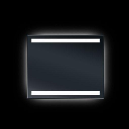 Backlit Bevel Edge Bathroom Mirror with IR Sensor 90cm x 75cm