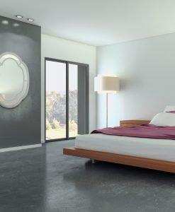 Blue-Grey Clover Wall Mirror