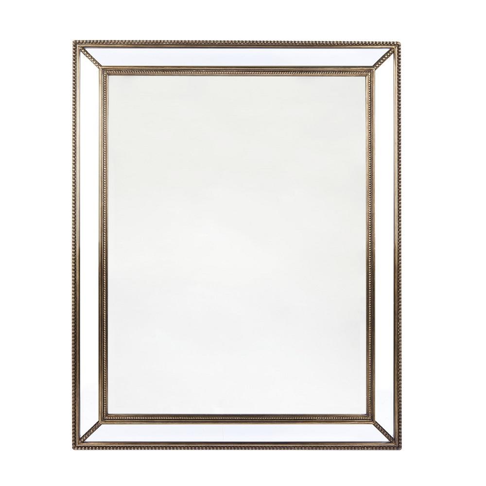 Hayden Wall Mirror In Antique Or Bronze Luxe Mirrors