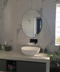Oval Bevel Edge Bathroom Mirror.