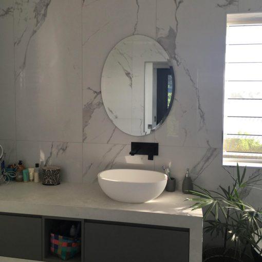 Oval Bevel Edge Bathroom Mirror.