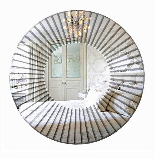 Venus Round Art Deco Mirror