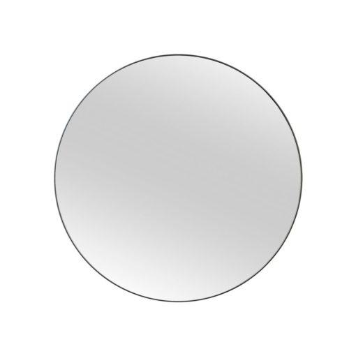 Black Infinity Edge Round Mirror 120cmCM