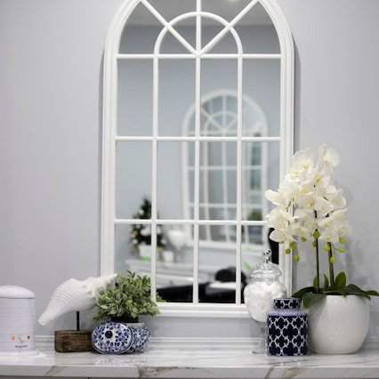 Percy White Arched Mirror
