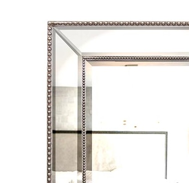Silver beaded wall mirror free shipping australia wide for Mirror 80cm wide