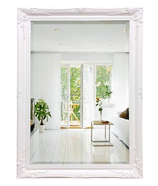 Georgia Ornate White Mirror