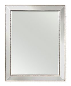 Large Silver Beaded Wall Mirror