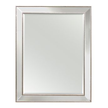 Medium Silver Beaded Wall Mirror